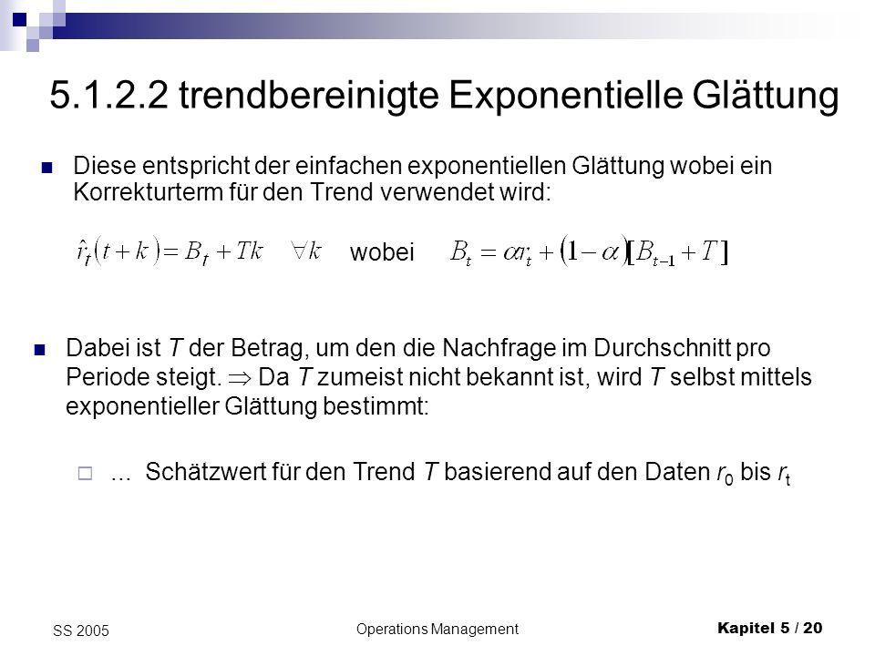 5.1.2.2 trendbereinigte Exponentielle Glättung