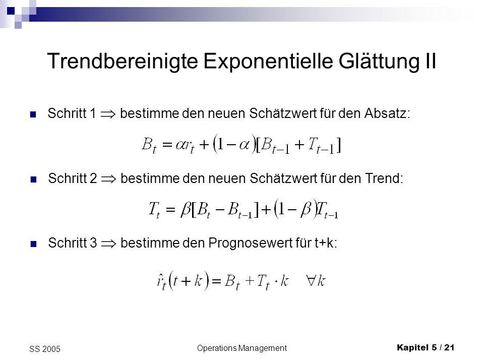 Trendbereinigte Exponentielle Glättung II
