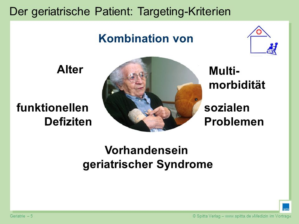 Vorhandensein geriatrischer Syndrome