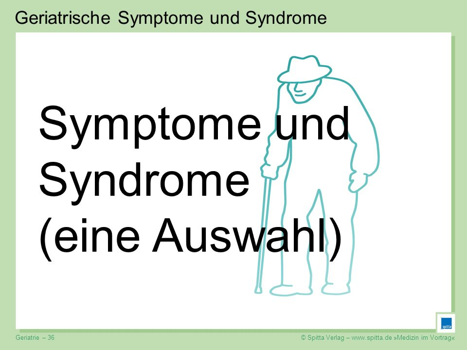 Symptome und Syndrome (eine Auswahl)