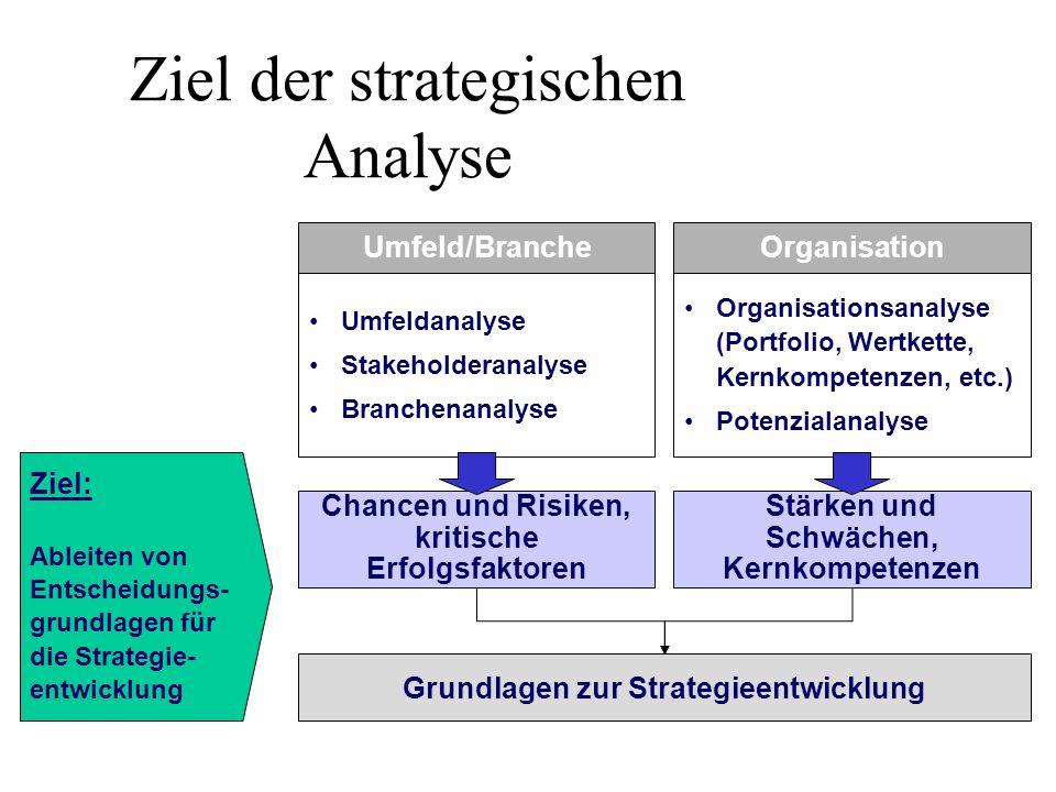 Ziel der strategischen Analyse