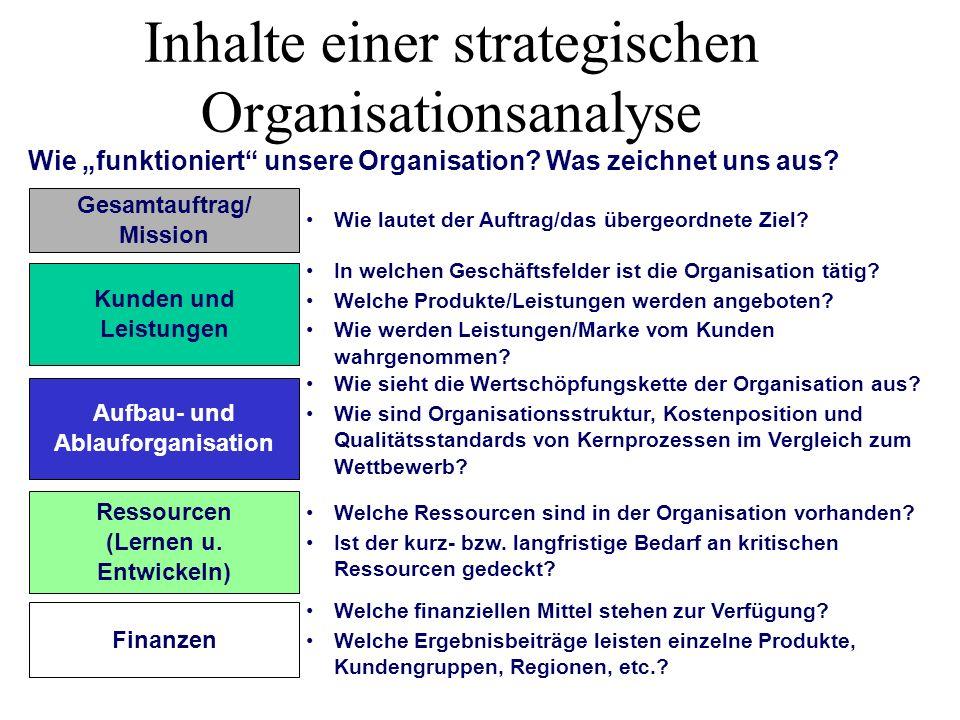 Inhalte einer strategischen Organisationsanalyse