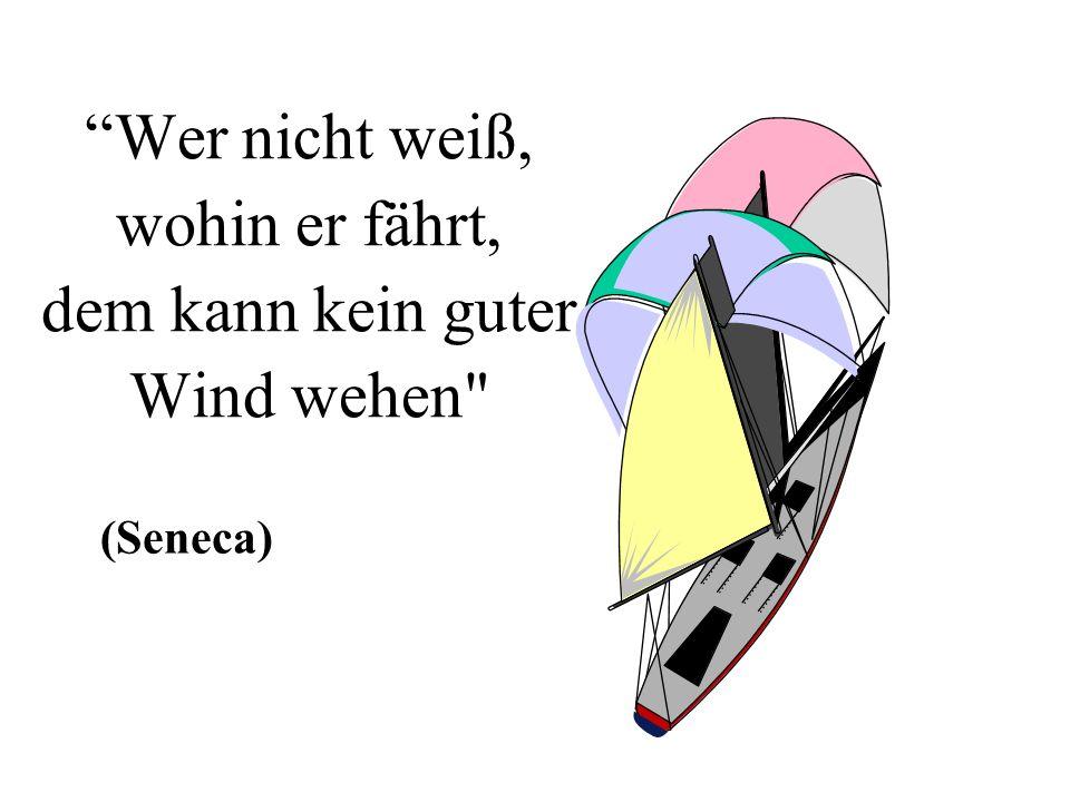 Wer nicht weiß, wohin er fährt, dem kann kein guter Wind wehen