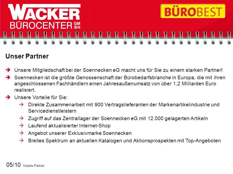 Unser Partner 05/10 Unsere Partner