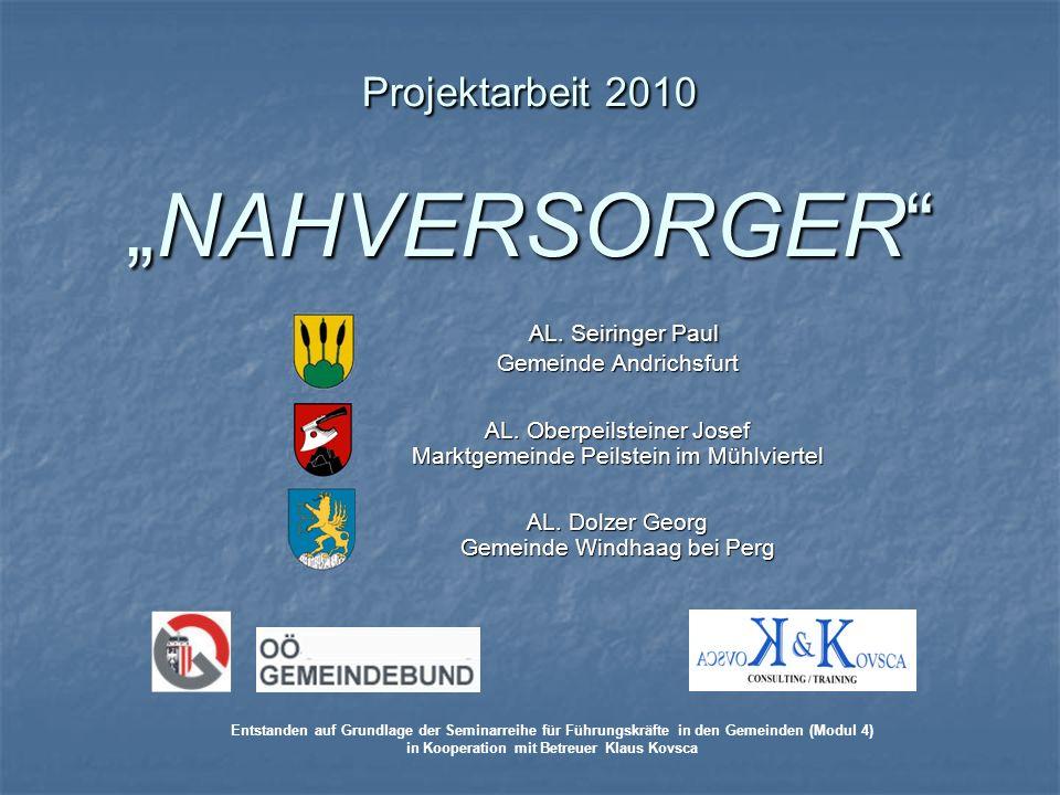 """Projektarbeit 2010 """"NAHVERSORGER"""