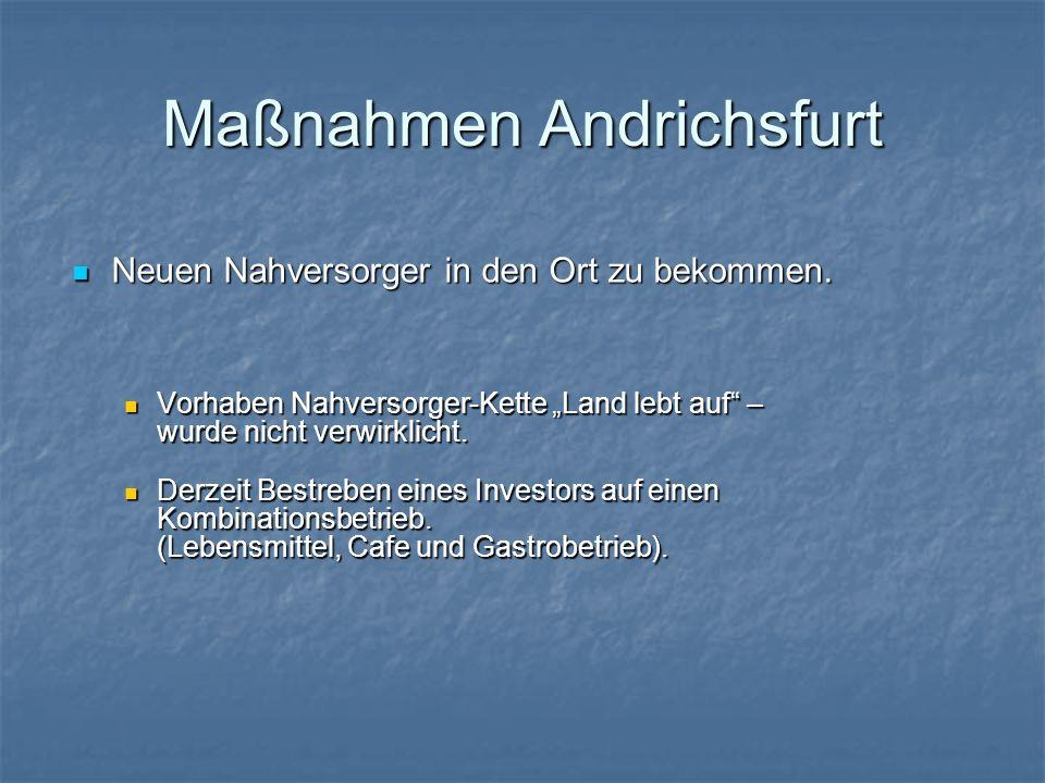 Maßnahmen Andrichsfurt
