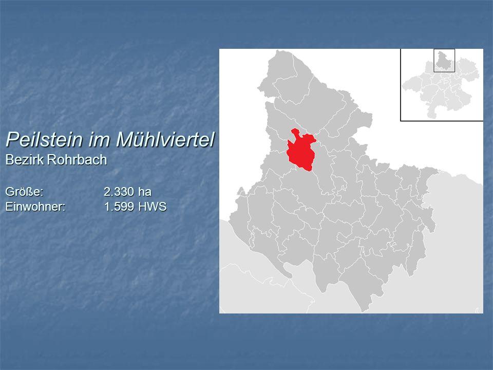 Peilstein im Mühlviertel Bezirk Rohrbach Größe:. 2. 330 ha Einwohner: