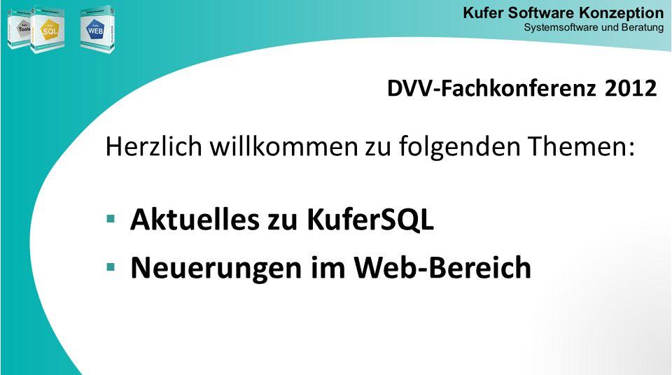 Neuerungen im Web-Bereich