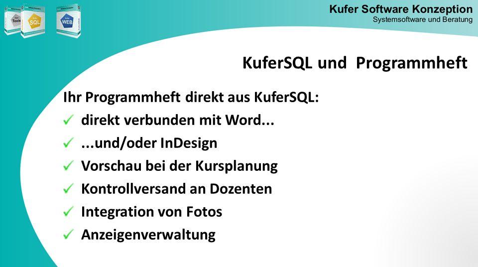 KuferSQL und Programmheft