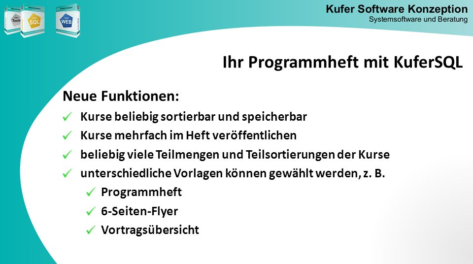 Ihr Programmheft mit KuferSQL