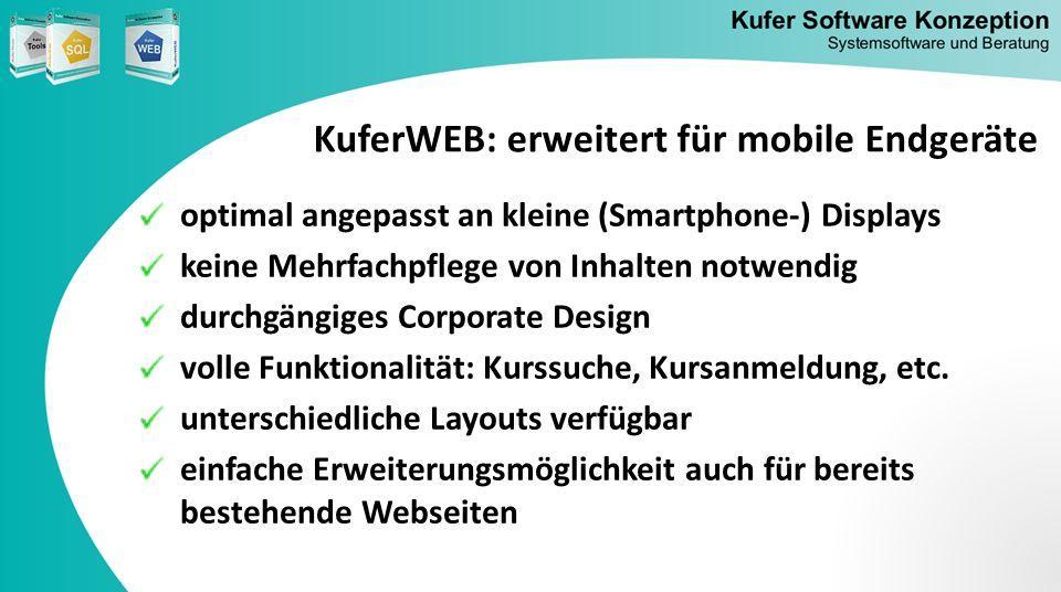 KuferWEB: erweitert für mobile Endgeräte