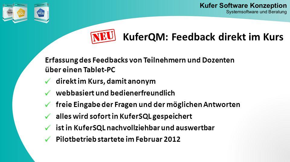 KuferQM: Feedback direkt im Kurs