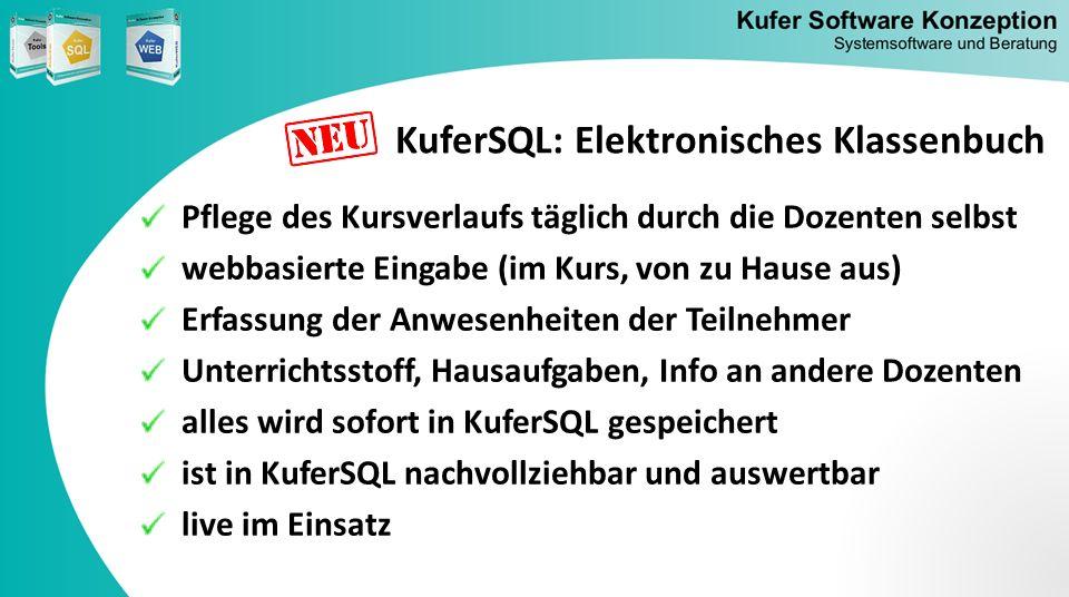 KuferSQL: Elektronisches Klassenbuch