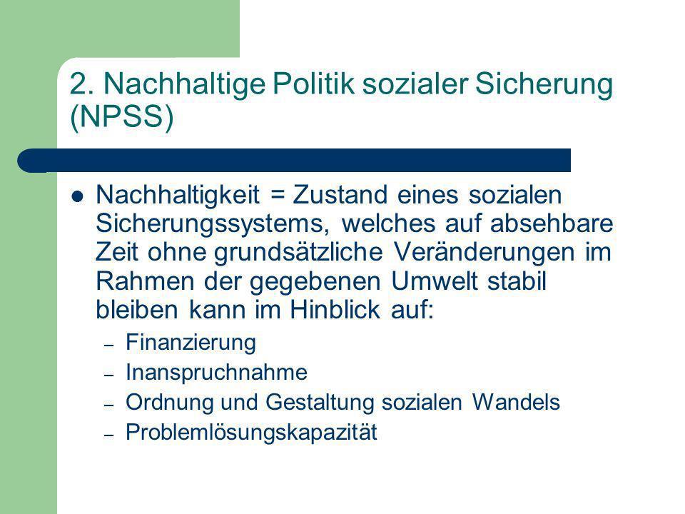 2. Nachhaltige Politik sozialer Sicherung (NPSS)