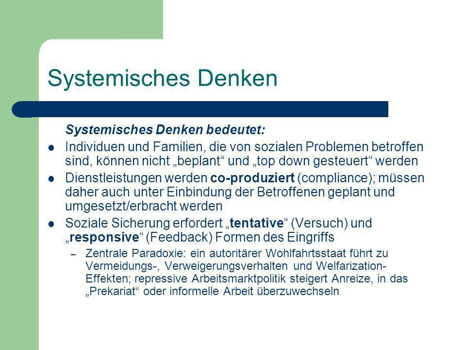 Systemisches Denken Systemisches Denken bedeutet:
