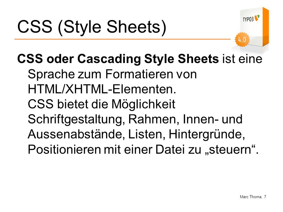 CSS (Style Sheets)