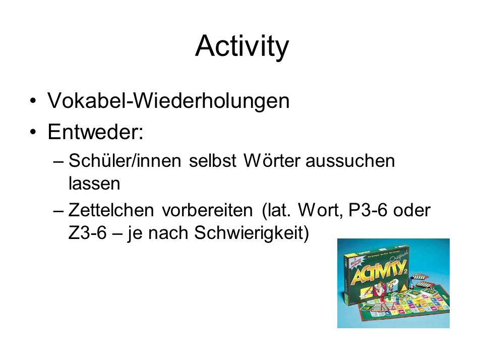 Activity Vokabel-Wiederholungen Entweder: