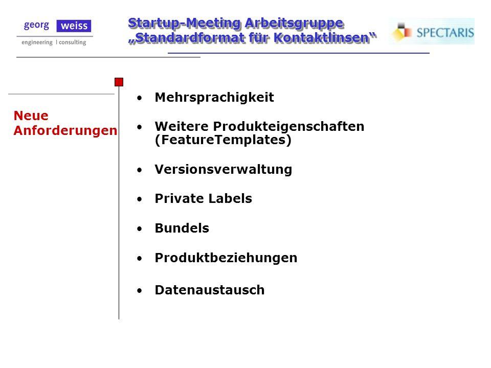 Mehrsprachigkeit Weitere Produkteigenschaften (FeatureTemplates) Versionsverwaltung. Private Labels.