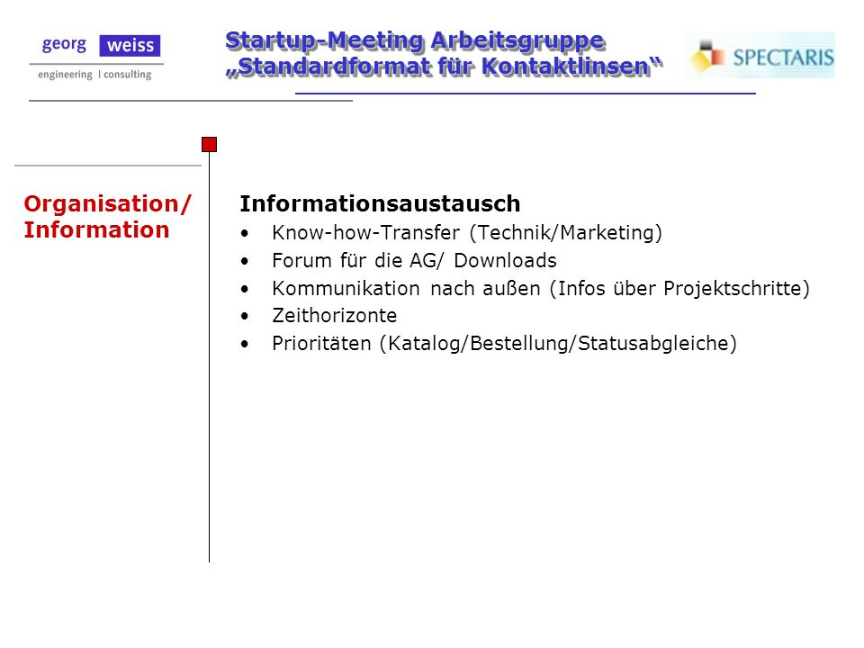 Organisation/ Information