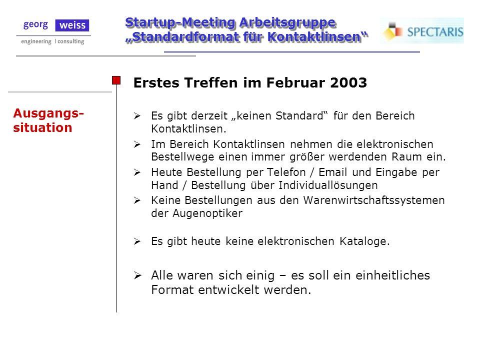 Erstes Treffen im Februar 2003