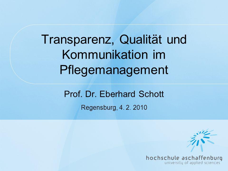Transparenz, Qualität und Kommunikation im Pflegemanagement