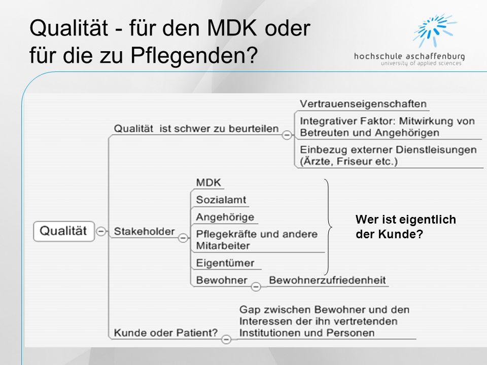 Qualität - für den MDK oder für die zu Pflegenden