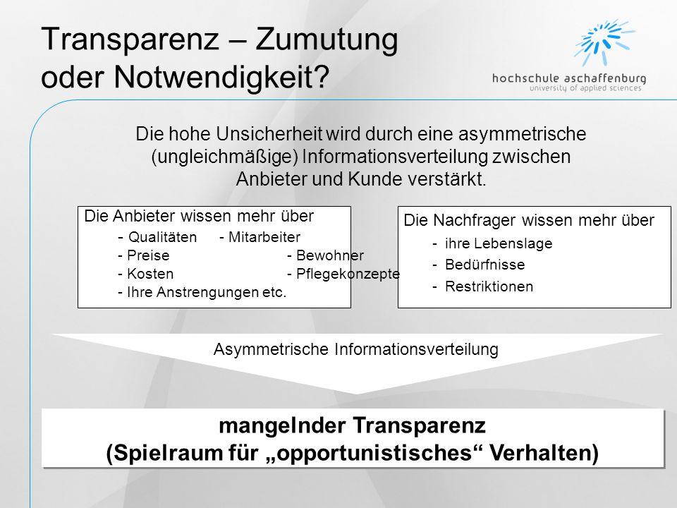 Transparenz – Zumutung oder Notwendigkeit