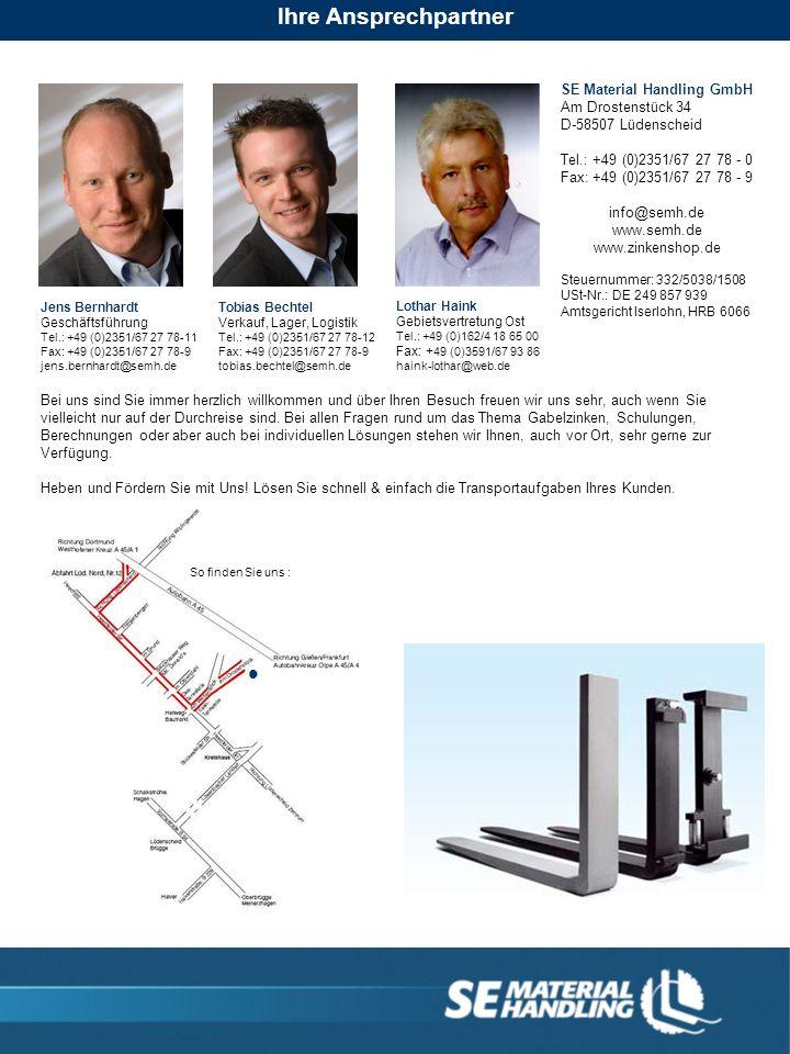 Ihre Ansprechpartner SE Material Handling GmbH Am Drostenstück 34