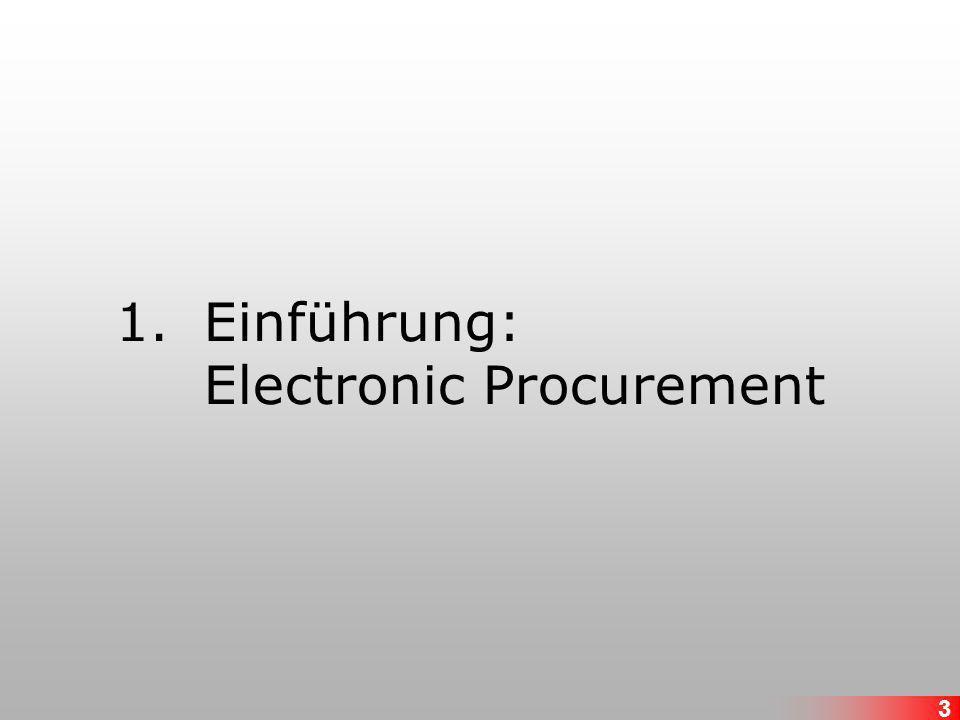 Einführung: Electronic Procurement