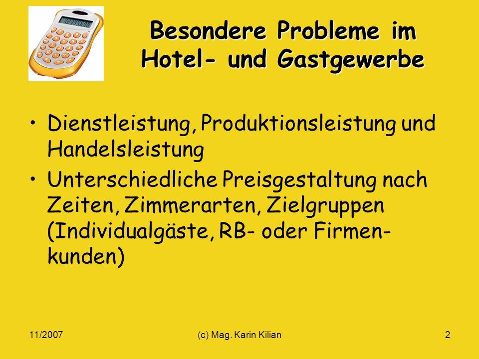Besondere Probleme im Hotel- und Gastgewerbe