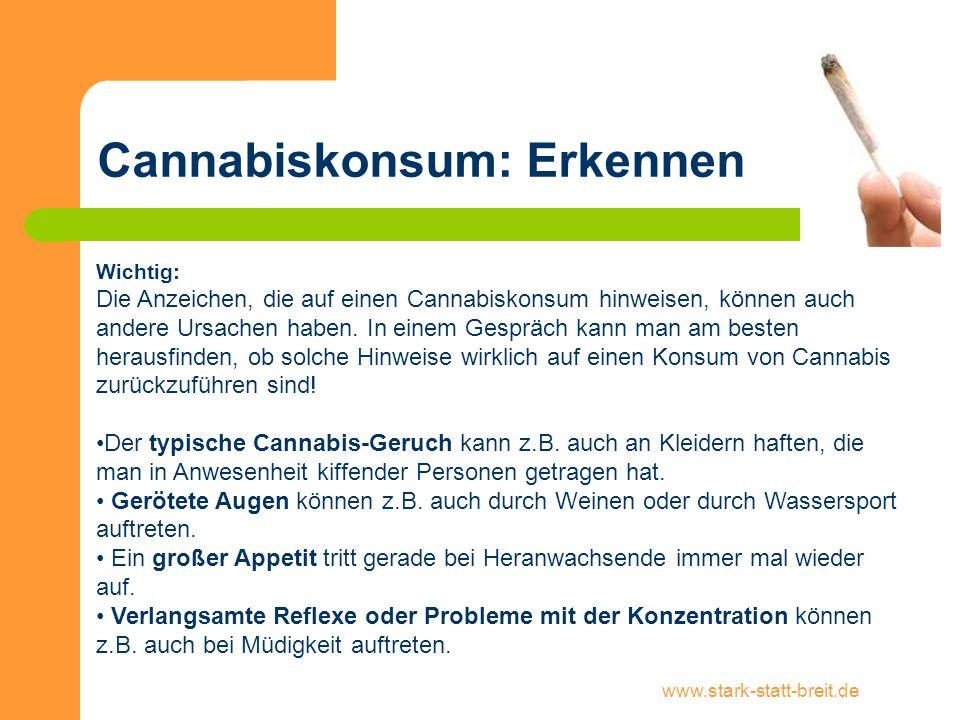 Cannabiskonsum: Erkennen