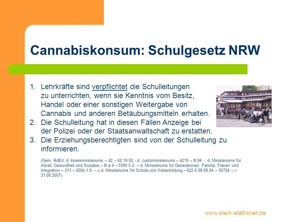 Cannabiskonsum: Schulgesetz NRW