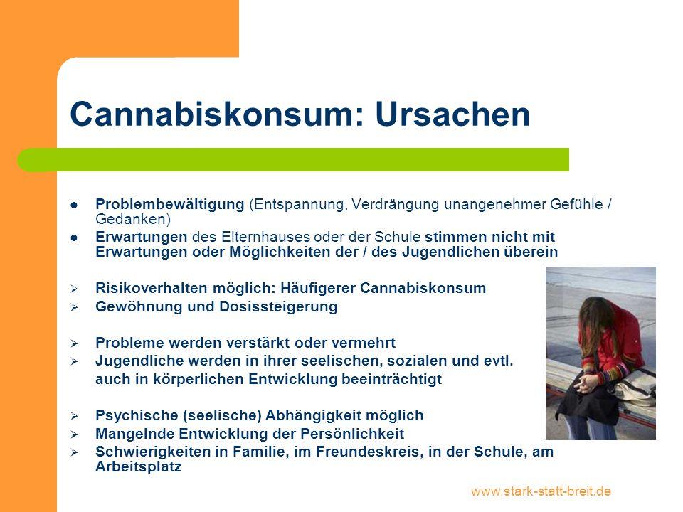 Cannabiskonsum: Ursachen