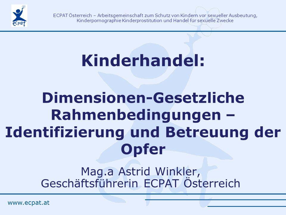 Mag.a Astrid Winkler, Geschäftsführerin ECPAT Österreich