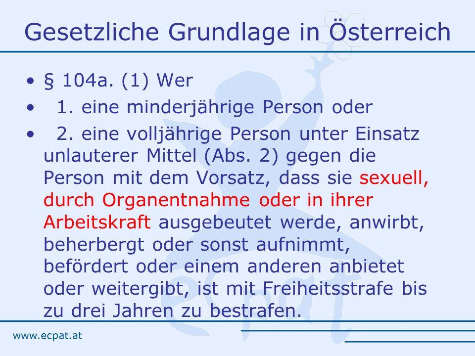Gesetzliche Grundlage in Österreich