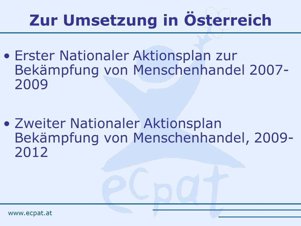 Zur Umsetzung in Österreich
