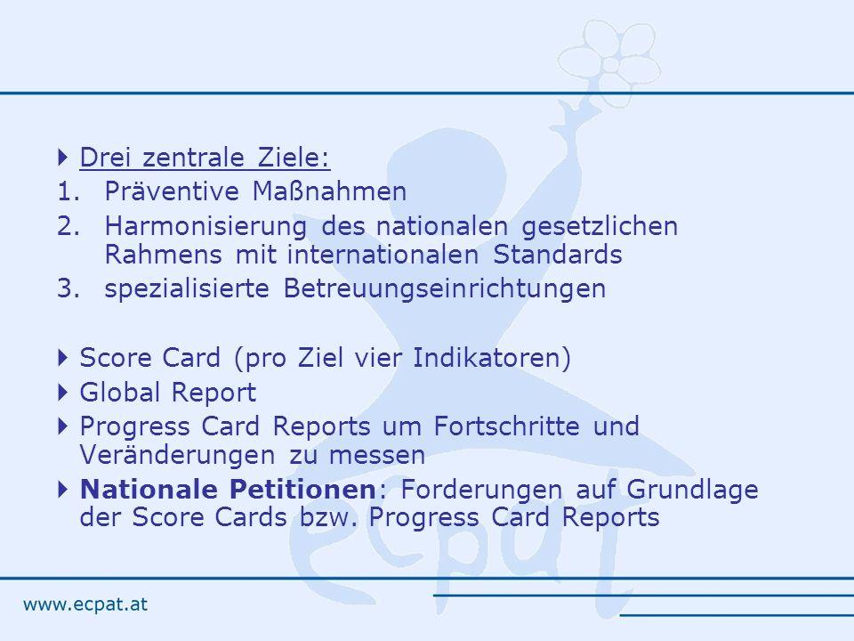 Drei zentrale Ziele: Präventive Maßnahmen. Harmonisierung des nationalen gesetzlichen Rahmens mit internationalen Standards.