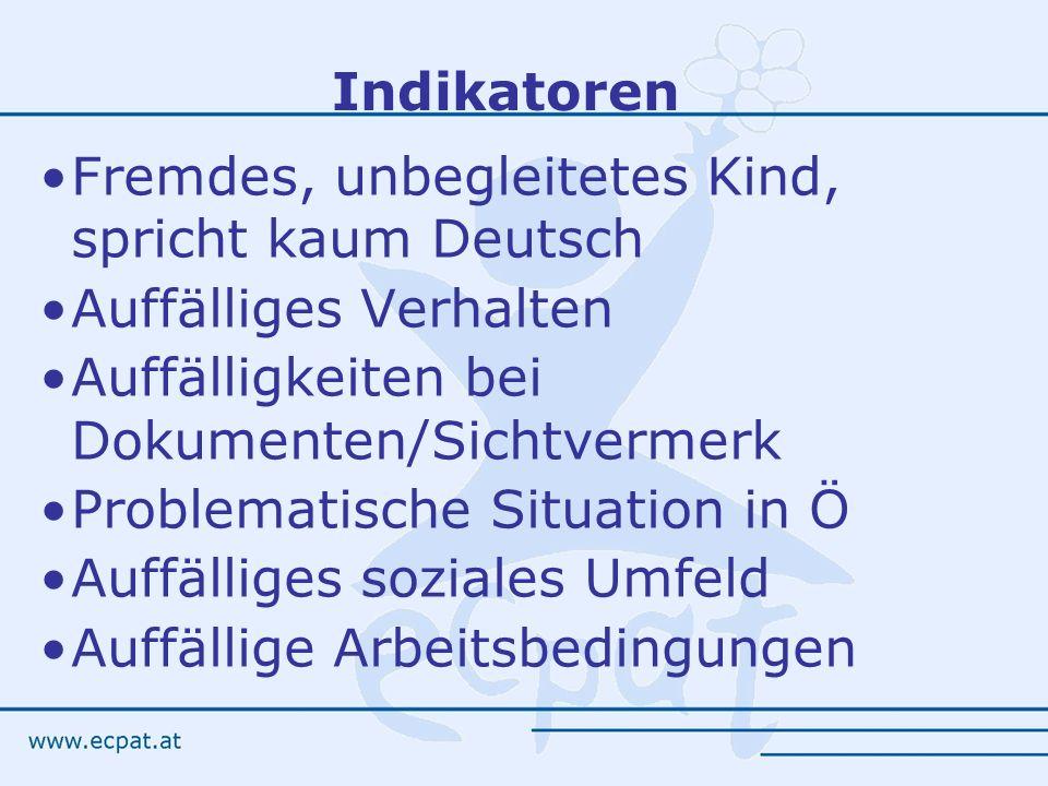 Fremdes, unbegleitetes Kind, spricht kaum Deutsch