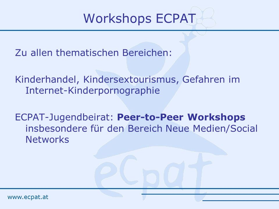 Workshops ECPAT