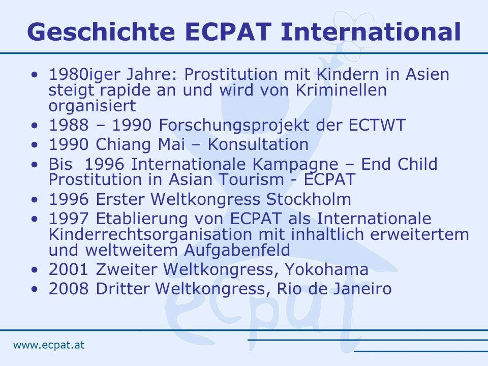 Geschichte ECPAT International