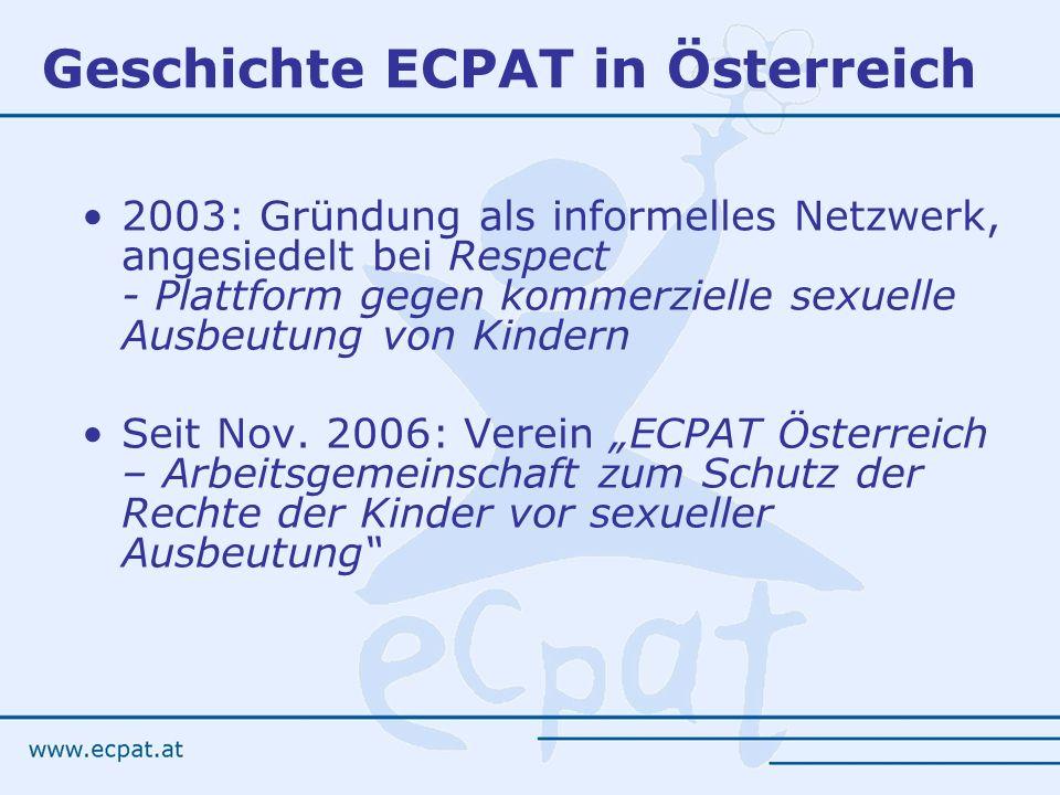 Geschichte ECPAT in Österreich