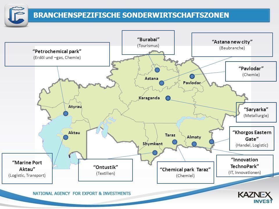 BRANCHENSPEZIFISCHE SONDERWIRTSCHAFTSZONEN