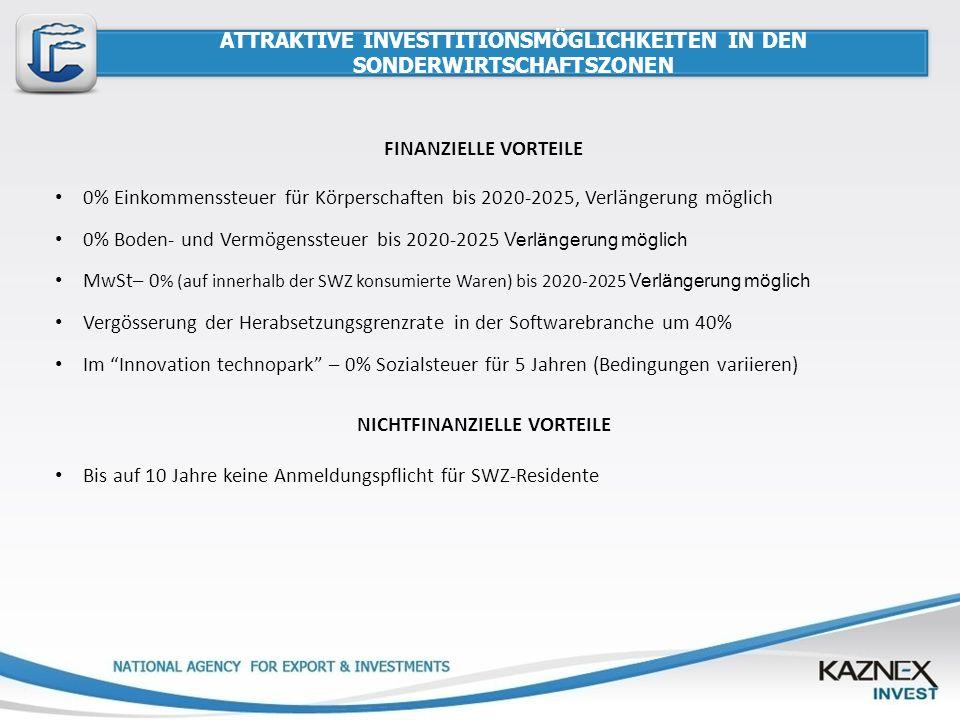 ATTRAKTIVE INVESTTITIONSMÖGLICHKEITEN IN DEN SONDERWIRTSCHAFTSZONEN