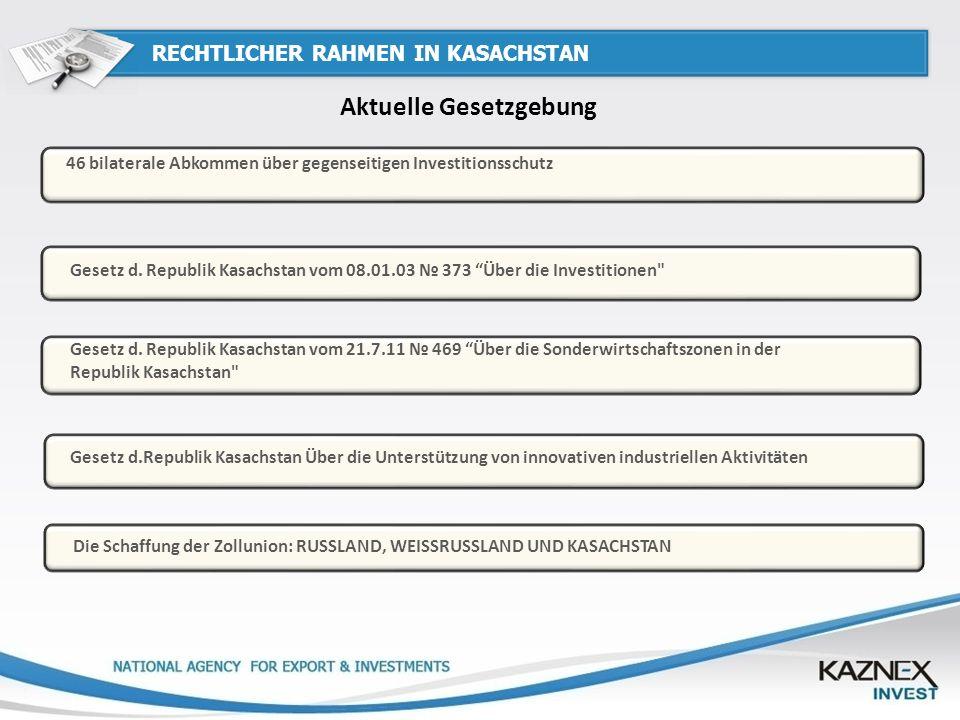 RECHTLICHER RAHMEN IN KASACHSTAN