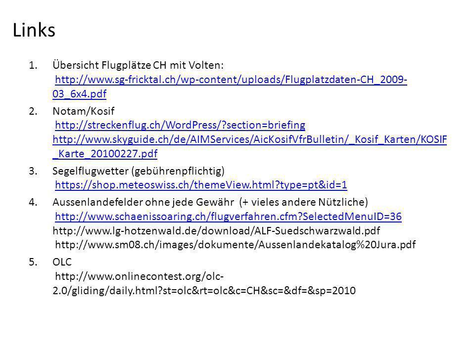 Links Übersicht Flugplätze CH mit Volten: http://www.sg-fricktal.ch/wp-content/uploads/Flugplatzdaten-CH_2009-03_6x4.pdf.