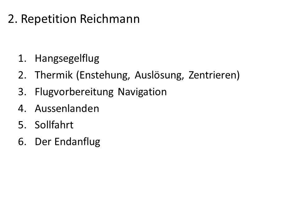 2. Repetition Reichmann Hangsegelflug