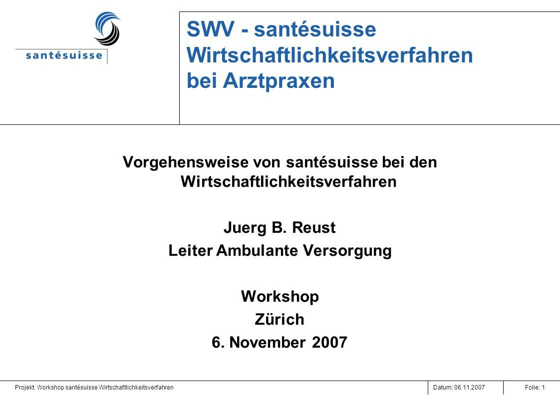 SWV - santésuisse Wirtschaftlichkeitsverfahren bei Arztpraxen