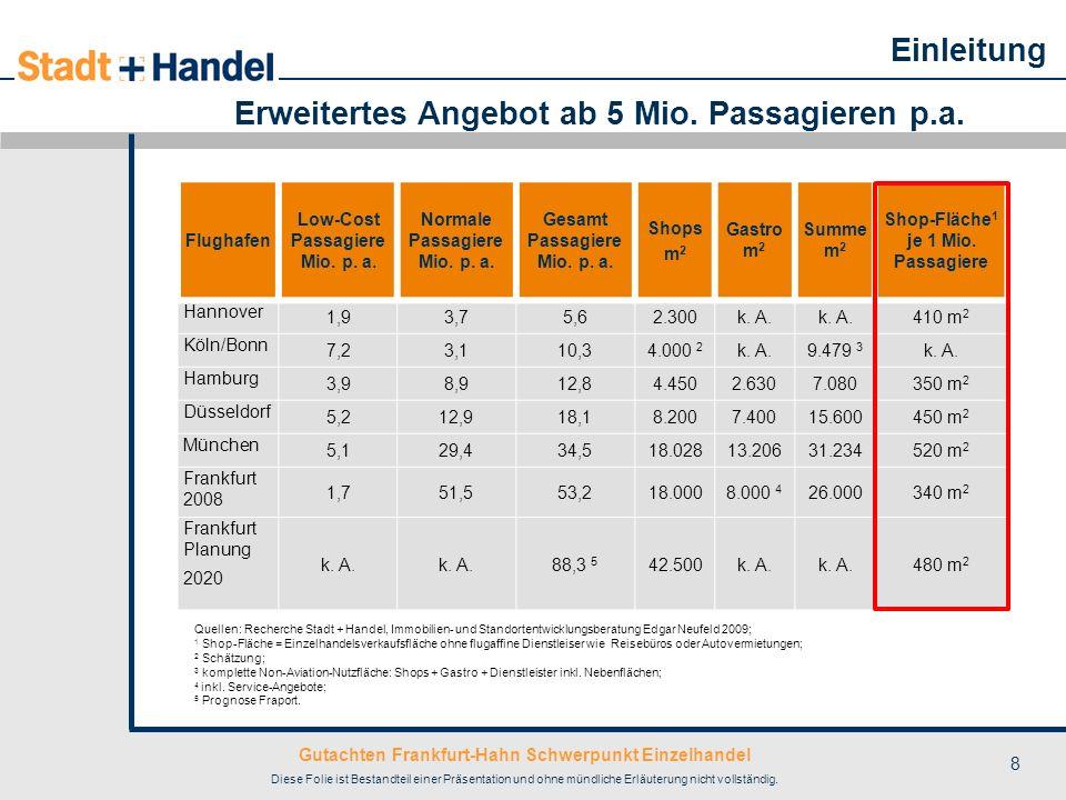 Erweitertes Angebot ab 5 Mio. Passagieren p.a.