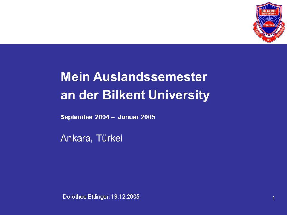 Mein Auslandssemester an der Bilkent University