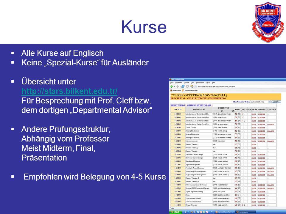 """Kurse Alle Kurse auf Englisch Keine """"Spezial-Kurse für Ausländer"""